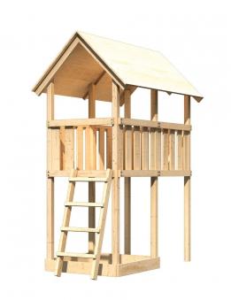 Spielturm / Kletterturm Karibu Akubi Danny natur 137x209cm Bild 1