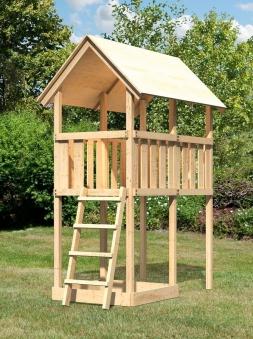 Spielturm / Kletterturm Karibu Akubi Danny natur 137x209cm Bild 2