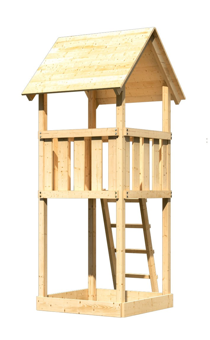 Spielturm / Kletterturm Karibu Akubi Lotti natur 137x119cm Bild 1