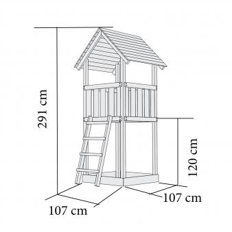 Spielturm / Kletterturm Karibu Akubi Lotti natur 137x119cm Bild 3