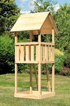 Spielturm / Kletterturm Karibu Akubi Lotti natur 137x119cm Bild 4