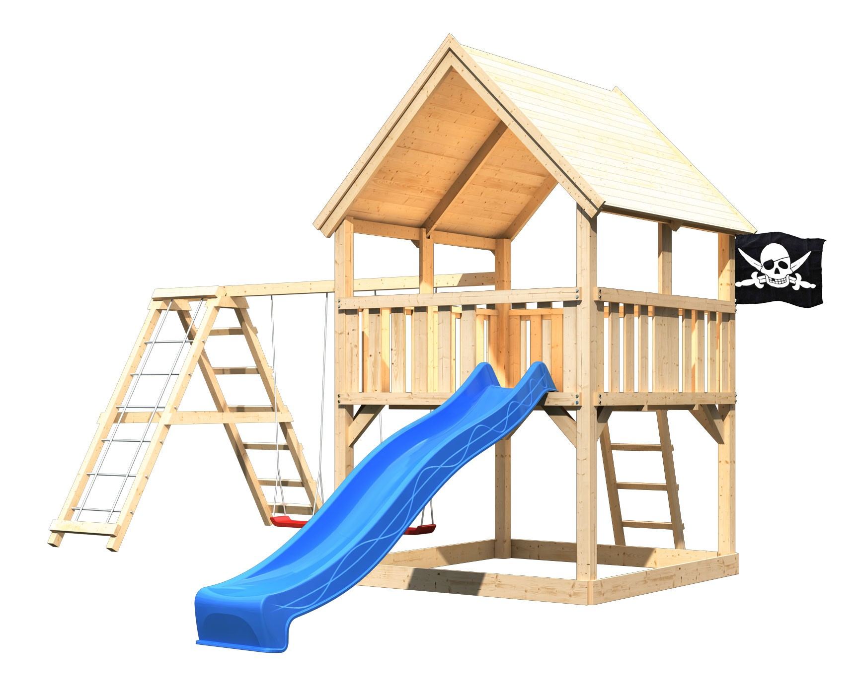 Spielturm Luis Set XL Karibu Akubi natur Klettergerüst+ ...