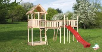 Spielturm / Spielanlage Tabaluga Spielelandschaft 160x450cm Bild 1