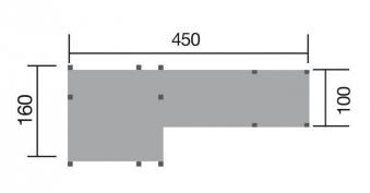 Spielturm / Spielanlage Tabaluga Spielelandschaft 160x450cm Bild 2