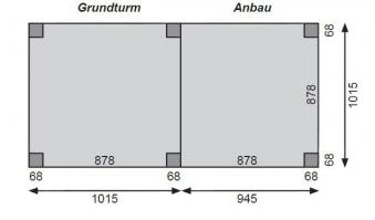 Karibu Akubi Anbau für Spielturm Lotti natur 107x107cm Bild 2