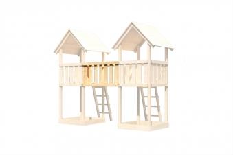 Karibu Akubi Brückenanbau für Spielturm Lotti / Danny / Frieda natur Bild 2