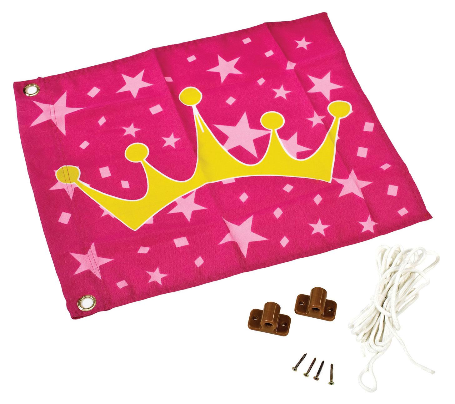 Karibu Akubi Fahne Prinzessinen 55x45cm Bild 1