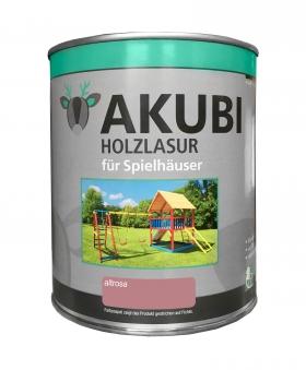 Karibu Akubi Holzlasur Set für Spielhäuser 750 ml altrosa Bild 1