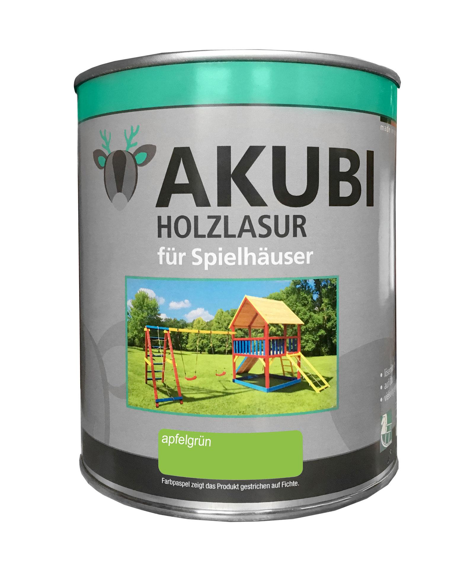 Karibu Akubi Holzlasur Set für Spielhäuser 750 ml apfelgrün Bild 1