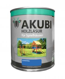 Karibu Akubi Holzlasur Set für Spielhäuser 750 ml ozeanblau Bild 1