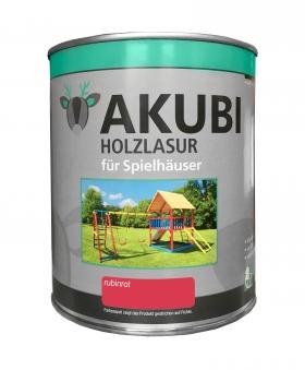 Karibu Akubi Holzlasur Set für Spielhäuser 750 ml rubinrot Bild 1