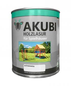 Karibu Akubi Holzlasur Set für Spielhäuser 750 ml schneeweiß Bild 1
