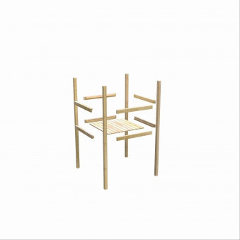 Spielturm Karibu Akubi Lotti Set C Doppelsch./Kletterger./Rutsche grün Bild 7