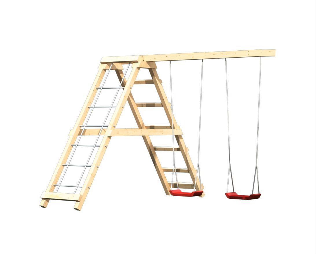 Spielturm Karibu Akubi Luis Set C Kletterger./Doppelsch./Rutsche blau Bild 5