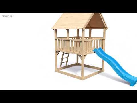 Spielturm Karibu Akubi Luis Set C Kletterger./Doppelsch./Rutsche blau Video Screenshot 3089