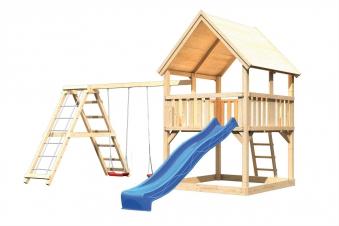 Spielturm Karibu Akubi Luis Set C Kletterger./Doppelsch./Rutsche blau Bild 2