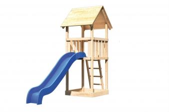 Spielturm / Kletterturm Karibu Akubi Lotti Set A Rutsche blau Bild 2