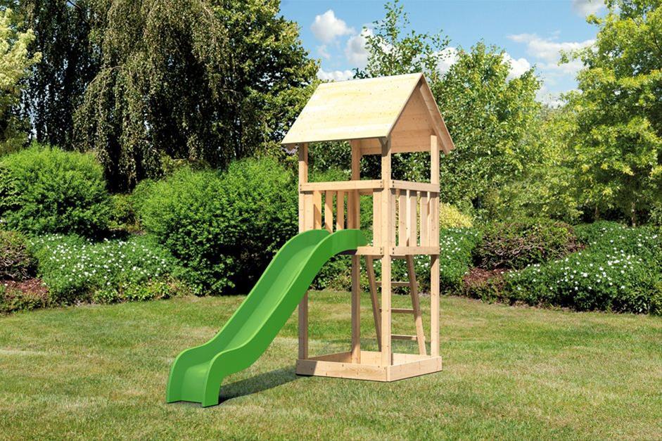 Spielturm / Kletterturm Karibu Akubi Lotti Set A Rutsche grün Bild 1