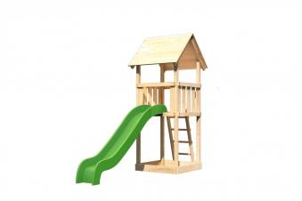 Spielturm / Kletterturm Karibu Akubi Lotti Set A Rutsche grün Bild 2