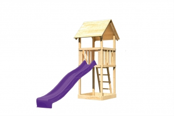 Spielturm / Kletterturm Karibu Akubi Lotti Set A Rutsche violett Bild 2