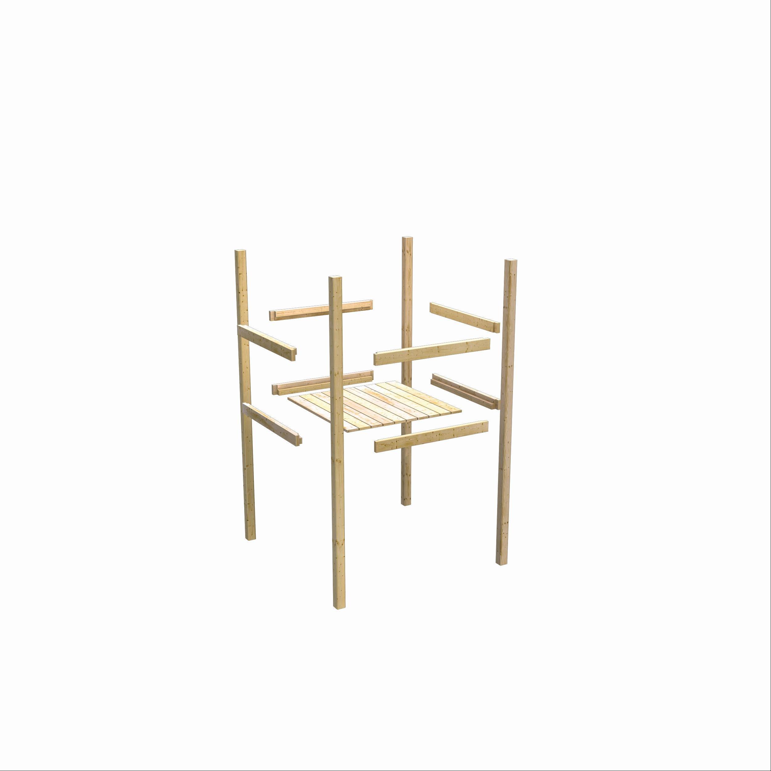 Spielturm / Kletterturm Karibu Akubi Luis Set A Rutsche grün 217x205cm Bild 6