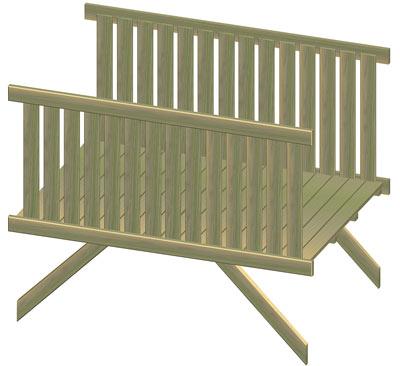 Holzbrücke / Erweiterungselement Multi-Play Bild 1