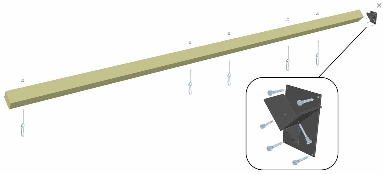 Schaukelbalken Multi-Play Länge 360 cm Bild 1