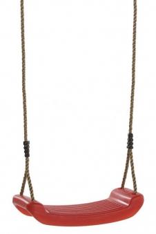 Schaukelsitz Kunststoff rot mit Seil Bild 1