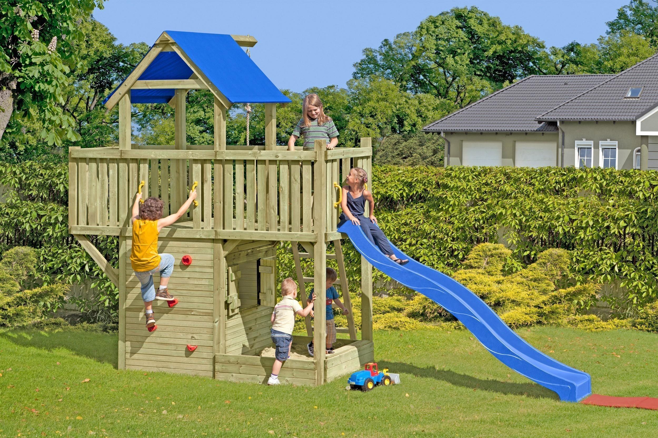 spielanlage spielturm big tree multi play mit rutsche bei. Black Bedroom Furniture Sets. Home Design Ideas