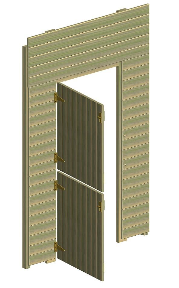 Wandelement  Multi-Play mit Tür 2 Flügel Bild 1