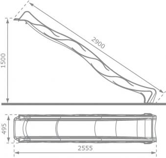Wellenrutsche / Wasserrutsche / Rutsche Tsuri 1500mm grün 2,90m Bild 2
