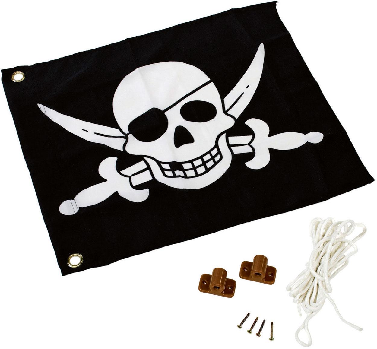 Fahne / Flagge Pirat für Spielturm mit Hisssystem Bild 1