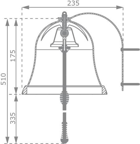 Glocke für Kinderspielhaus und Spielturm blau Bild 2