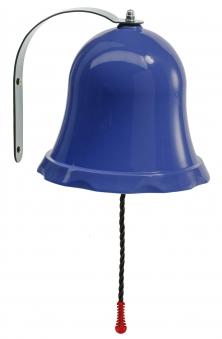 Glocke für Kinderspielhaus und Spielturm blau Bild 1