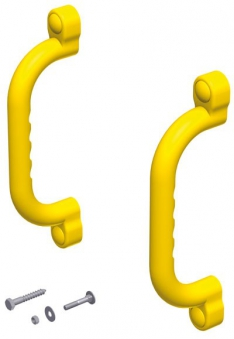 WINNETOO Handgriff / Kunststoffgriff (82) gelb 2-er Set Bild 1