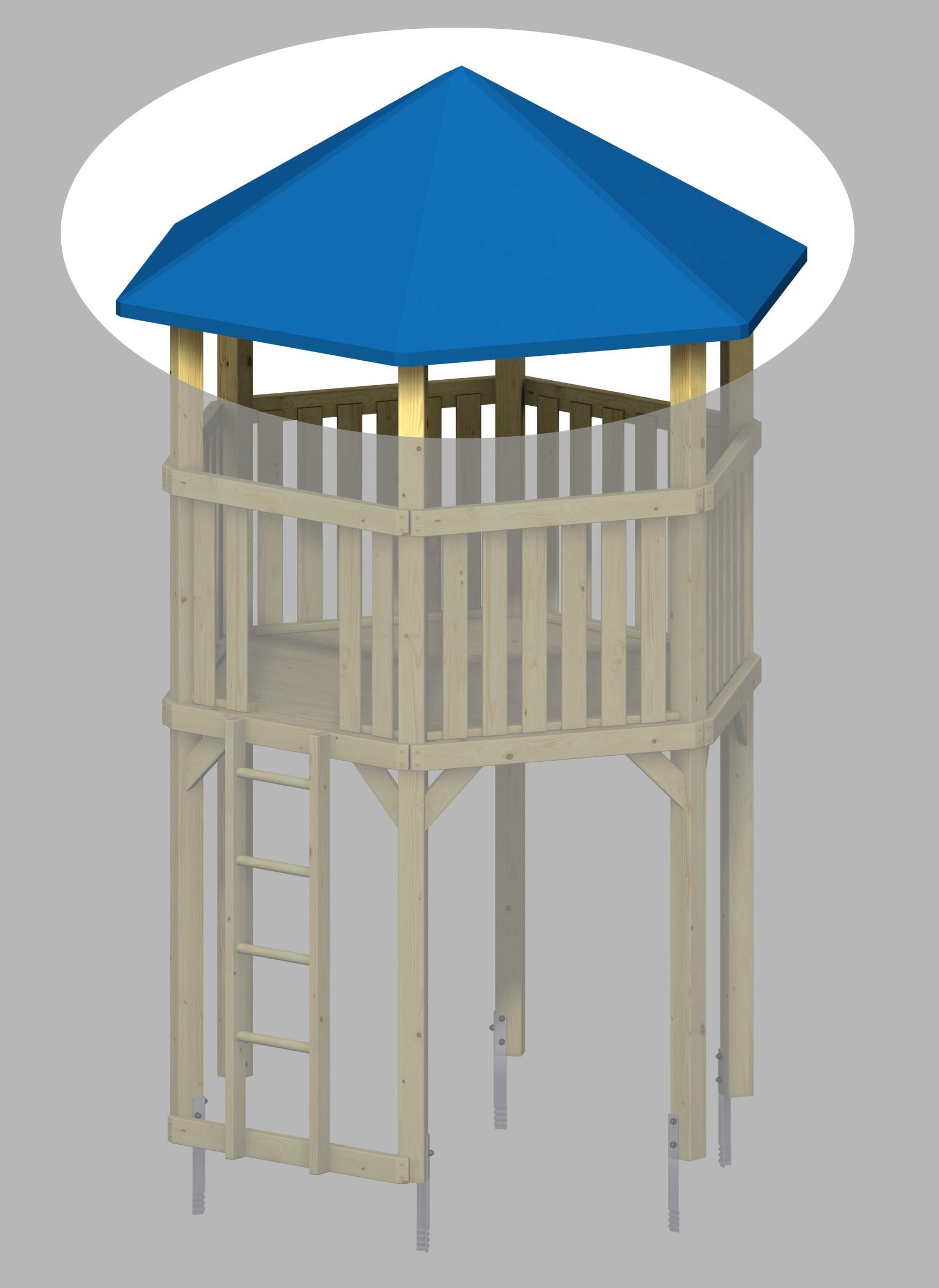 WINNETOO Dach für 6-Eck Spielturm Bild 1