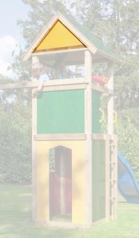 WINNETOO Giebel für Spielturm gelb