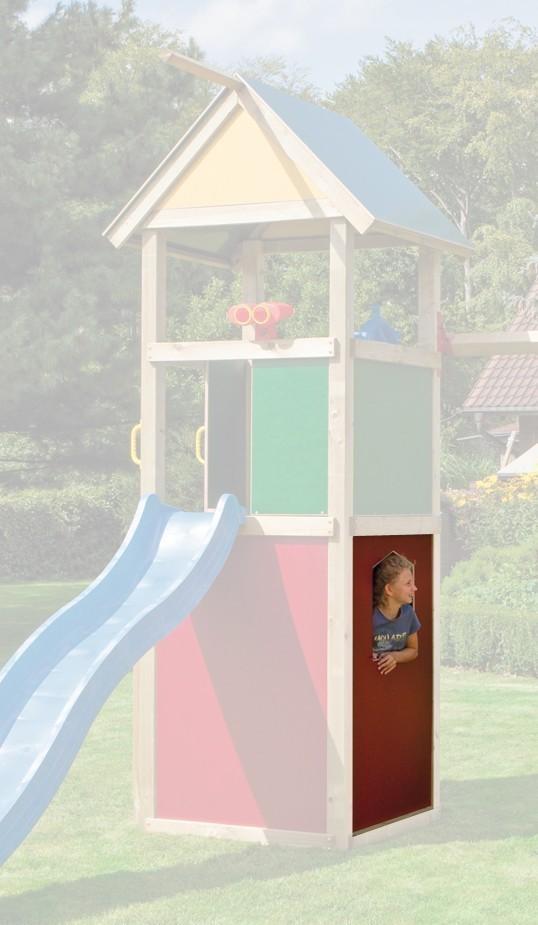 WINNETOO Fensterwand für Spielturm 90x138cm rot Bild 1