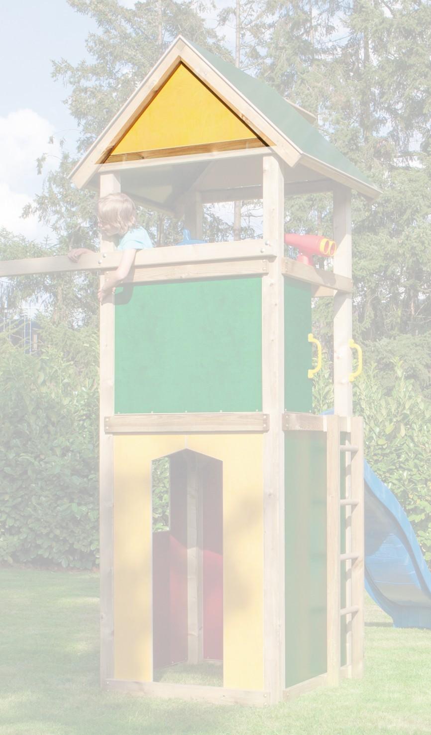 WINNETOO Giebel für Spielturm gelb Bild 1