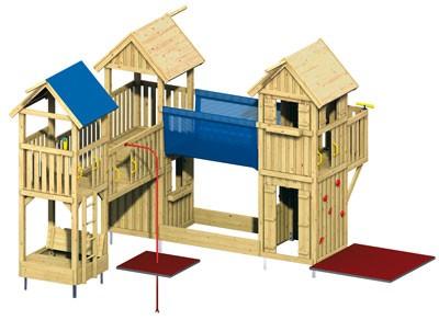 WINNETOO Holzdach / Dach für Spielturm (5) Bild 2