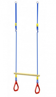 WINNETOO Ringtrapez Holz mit Seil / Ringen (54) Bild 1