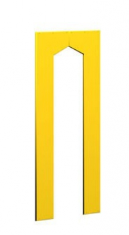 WINNETOO Türwand für Spielturm 90x138cm gelb Bild 1