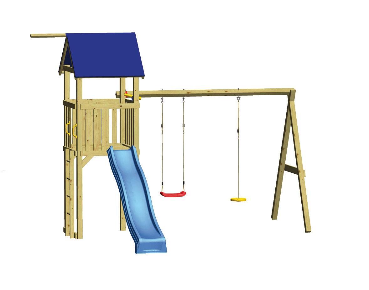 winnetoo spielanlage swing mit tellerschaukel und rutsche bei. Black Bedroom Furniture Sets. Home Design Ideas