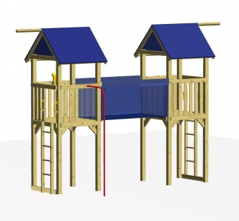 Winnetoo Spielturm RIALTO mit Hängebrücke Bild 1