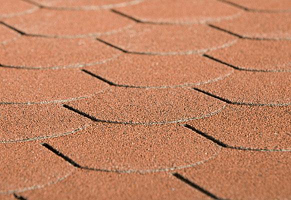 Biberschwanz Bitumen - Dachschindeln Weka rot Bild 1