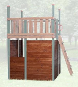 Verkleidung für Tabaluga Spielturm 816F natur Bild 1