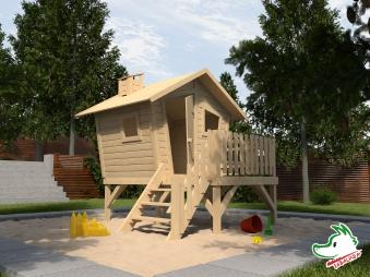 Weka Abenteuer Spielhaus / Stelzenhaus Lotti natur 214x224cm Bild 1