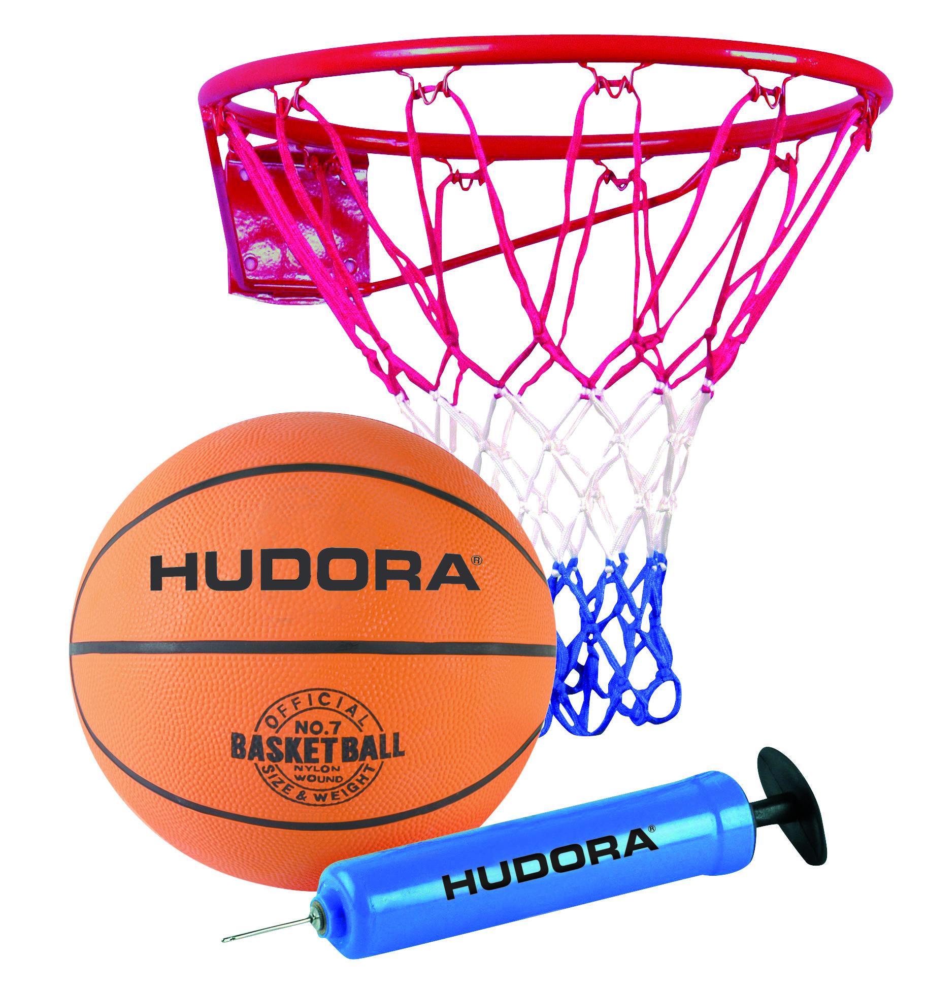 Hudora Basketball Set Slam it 3-teilig mit Korb und Pumpe Bild 1