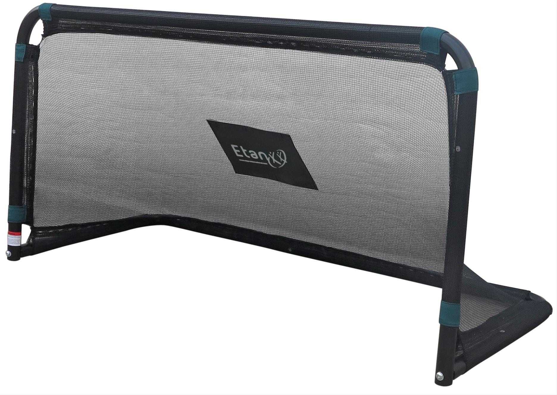 Fußballtor Etan mini Stahl schwarz 150x75x60cm Bild 1