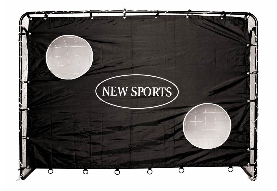 fu balltor mit torwand 213x153x76cm rahmen 32mm bei. Black Bedroom Furniture Sets. Home Design Ideas